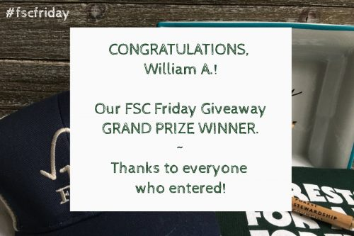 FSC Friday Giveaway Grand Prize Winner announcement
